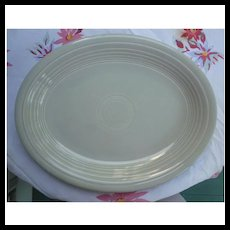 Vintage Fiesta 1950's Colors Gray Oval Platter