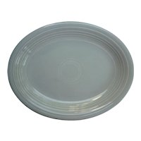 Vintage Fiesta 1950's Colors Gray Oval Platter