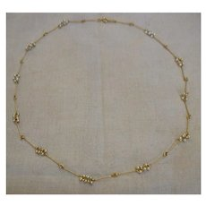Clusters of Faux Pearls Avon Goldtone Links Strand Necklace