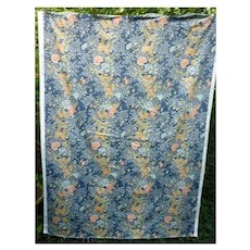 Marianne Floral Pattern Moygashel Screen Print Decorator Fabric