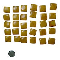 30 Butterscotch and Prystal Swirl Bakelite Chiclet Cubes