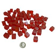 Prystal Red Bakelite Cubes Set of 69