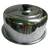Chrome Top Glass Bottom Cake Plate Saver