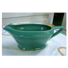 Vintage Harlequin Pottery Sauce Boat Original Spruce Glaze