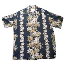 Great Vintage Hawaiian Aloha Surfer Shirt by Iolani