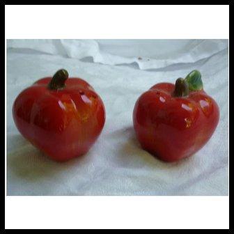 Ripe Red Apples Ceramic Salt and Pepper Set