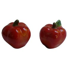Ripe Red Apples Ceramic Salt and Pepper Set