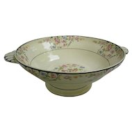 Charming Chintz Roses Hand Painted Trim Serving Bowl
