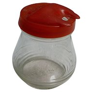 Hazel Atlas Mustard Jar with Red Lid