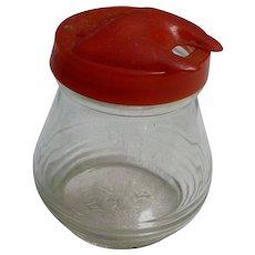Hazel Atlas Mustard Jar with Red Lid