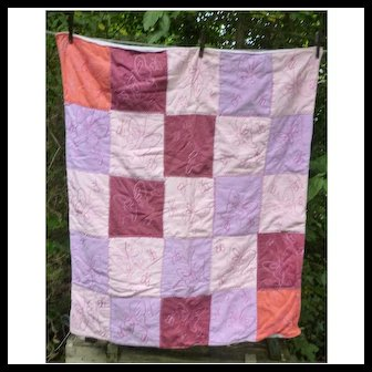 Hand Embroidered Butterflies Soft and Comfy Quilt