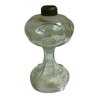Ornate Pressed Glass Bottom for Oil Lamp