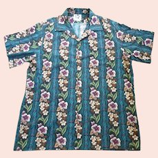 Hilo Hattie Tropical Flowers and Foliage Print Hawaiian Aloha Surfer Shirt  2XL
