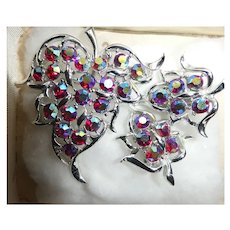 Aurora Borealis Sarah Coventry Brooch and Earring Set