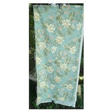 Richloom Label Tropical Flowers and Leaves Vintage Decorator Fabric