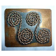 Rebajes Copper Abstract Coil Rope Scrolls Harmony Brooch