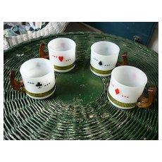 Siesta Ware Playing Card Mugs Set of 4