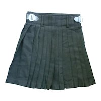 Dress Black Scotch Wool Kilt