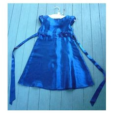 Iridescent Blue Satin Jessica McClintock Girl's Party Dress