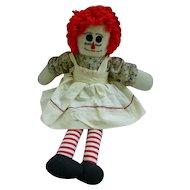 Sweet Handmade Vintage Raggedy Ann Doll