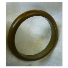 Olive Green Bakelite Bangle Bracelet