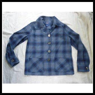 Wool Plaid Pendleton Ladies Jacket