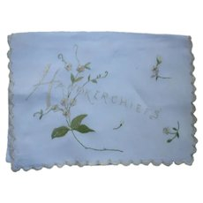 Dainty Embroidered Handkerchief Bag