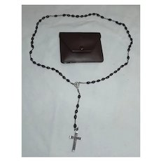 Italian Rosewood Rosary with Pouch