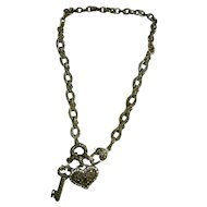 Ornate Key To My Heart Necklace