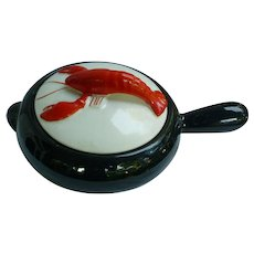 Shawnee Kenwood Lobster Ware 2 qt Black French Casserole # 904