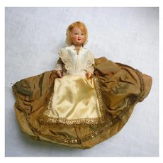 Celluloid Doll in Fancy Regional Costume