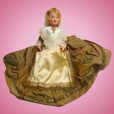 Celluloid Doll in Fancy Regional Costume