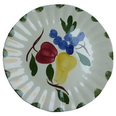 Fruit Fantasy Dinner Plate Blue Ridge Southern Pottery