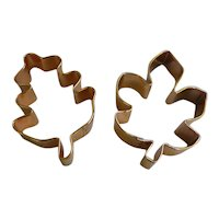 Large Fall Foliage Leaf Shapes Copper Cookie Cutters