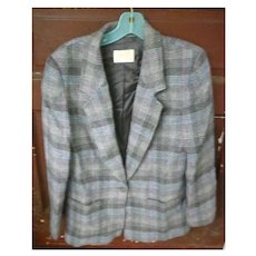 Pretty Plaid Pendleton Wool Ladies Jacket Blazer