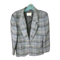 Pretty Plaid Pendleton Wool Ladies Jacket Blazer