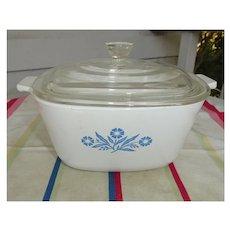 Corning Ware Blue Cornflower 1 ¾ Quart Casserole with Lid