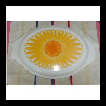 Pyrex Daisy Oval Casserole Lid