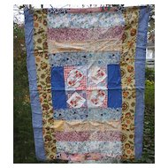 Petticoats and Pantaloons Vintage Crib Quilt Coverlet