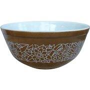 Pyrex Woodland Pattern 403 Beaded Edge Mixing Bowl