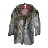 Natural Nutria Fur Coat