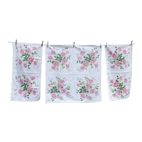 Pink Roses Willendur Vintage Tablecloth and Runners Set