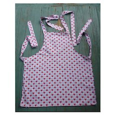 Vintage Novelty Steamed Crabs Apron with Bib