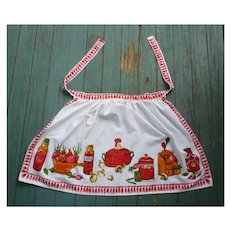 Great Gourmet's Kitchen Ingredients Print Apron