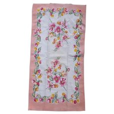Dogwood Blossoms and Crab Apples Vintage Dish Towel