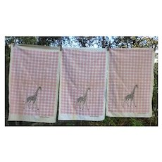 Startex Giraffe Kitchen Circus Dish Towels Set of 3