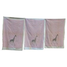Startex Giraffe Kitchen Circus Dish Towels Set of 3