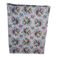 Colorful Cottage Garden Flowers Decorator Fabric