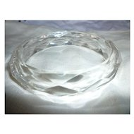 Vintage Diamond Faceted Clear Lucite Bangle Bracelet