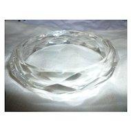 Vintage Diamond Faceted Clear Lucite Bangle Bracelet